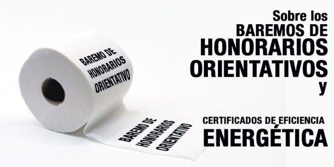 Certificado de eficiencia energética y baremos orientativos
