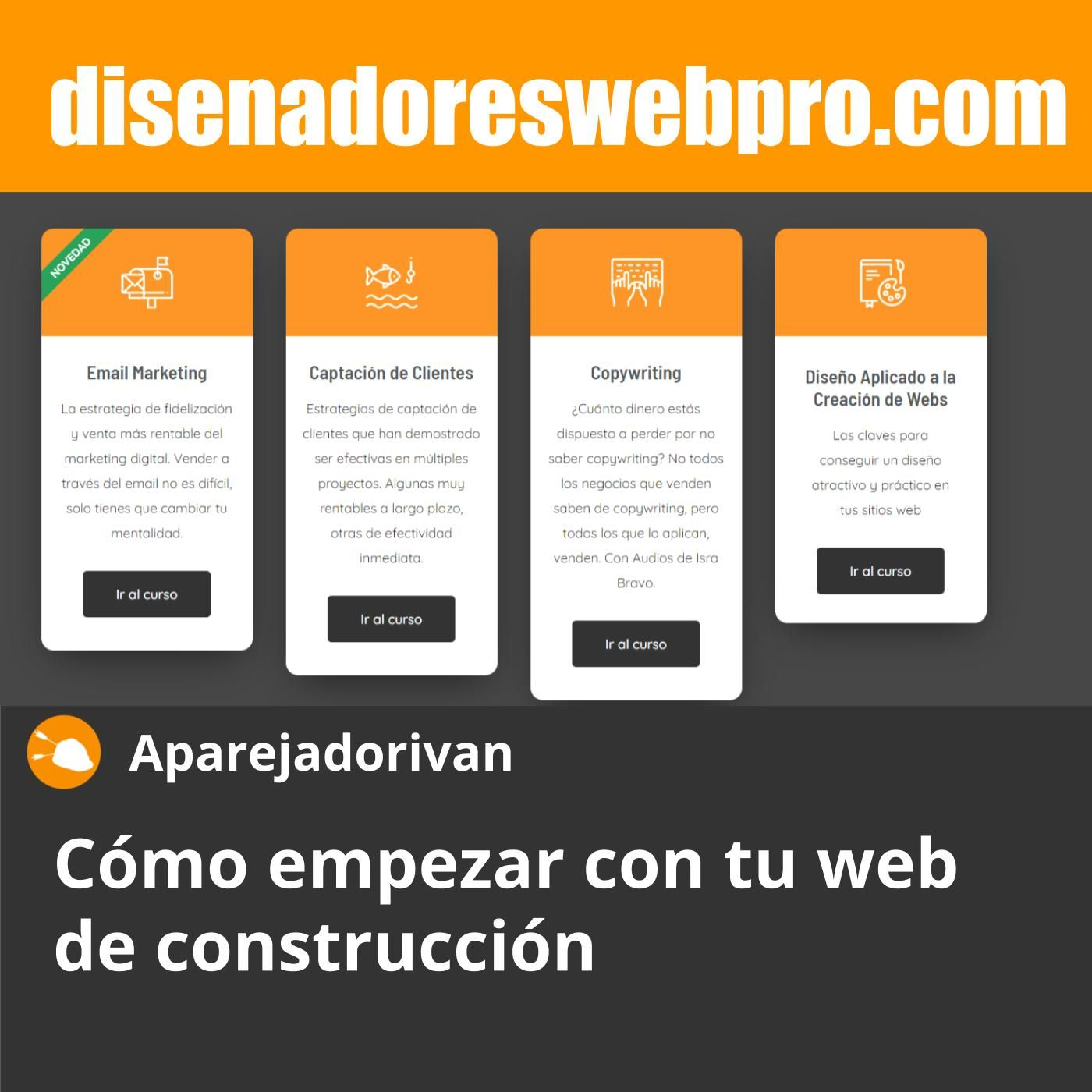 Cómo empezar con tu web de construcción