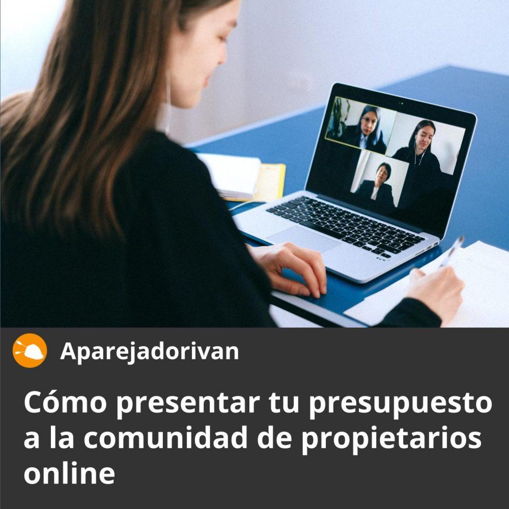 como presentar tu presupuesto a la comunidad de propietarios online