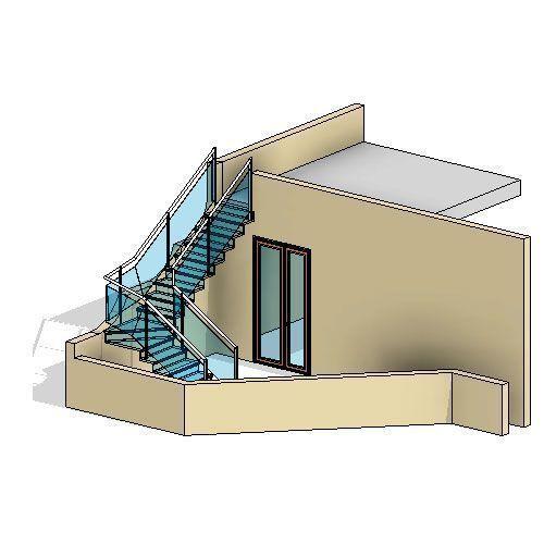 En la imagen puedes ver un modelo en 3D hecho en Revit con sombras ambientales y proyectadas.