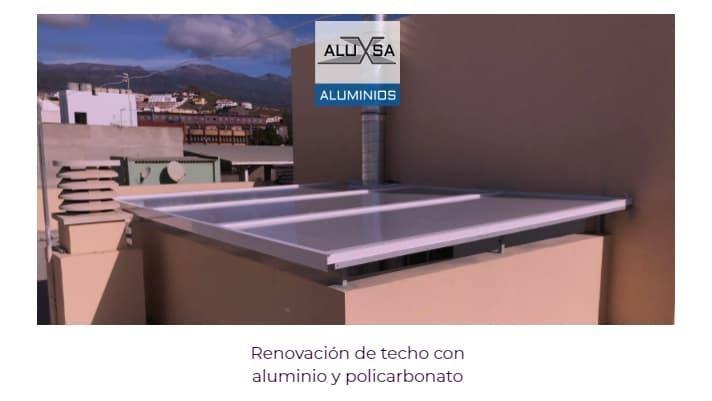 renovacion-de-techo-con-aluminio-y-policarbonato-tenerife